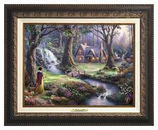 Disney's Snow White - Thomas Kinkade Canvas Classic (Aged Bronze Frame)