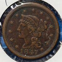 1847 1C Braided Hair Cent (51010)