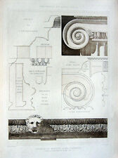 15 ~ Turkey TOMB MAUSOLEUM AT HALICARNASSUS ~ Old 1905 Architecture Art Print