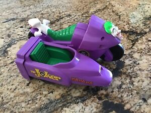 Vintage DC Super Heroes Batman JOKER Motorcycle w/ Sidecar ToyBiz