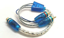 2 x Sound Quest Y RCA Interconnects Audio Cable W / LED 1 Female / 2 Male LRCA2M