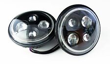 """JEEP Compatibile LED OSRAM RHD 7"""" FARI DRL Angel Eye (una coppia nella confezione)"""