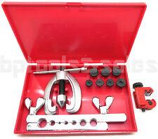 New Double Flaring Tool Kit w/ Mini Tubing Cutter Brake Air Water Gas Plumbing