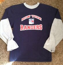 NEW YORK RANGERS LONG SLEEVE NHL TEE - JERSEY BY MY NHL  YOUTH LARGE 14 / 16