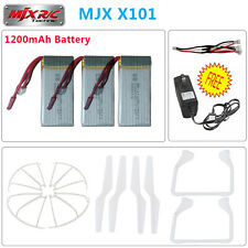 New 3pcs 7.4V 1200mAh Lipo Battery+Charger+4pcs Propellers For MJX X101 RC Drone