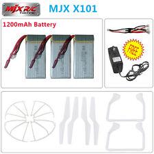 New 3pcs 7.4V 1200mAh Lipo Battery+Charger+4pcs Propellers For MJX X101 RC Drone
