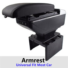 Car Styling Soft Top Armrest Storage Box New USB Function Leather For Universal