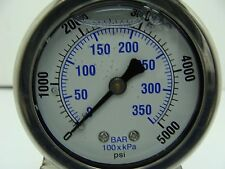 "202L-208R 2"" Glycerin Filled Gauge Stainless Steel 1/8"" NPT CBM 0 to 5000 psi"