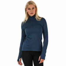 adidas Performance Climaheat Womens Zip Neck Long Sleeve Running Pullover Top