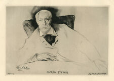 "Edgar Chahine original etching and drypoint ""Alfred Stevens"""