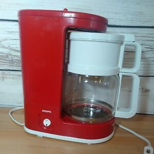Krups Type 150 Red 10 Cup Coffee Maker