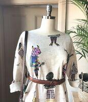 🤡 NEW Gorman Monster printed Festival Shift Cotton Dress AUS 8-10-12