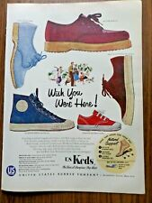 1954 U S Keds Shoes Ad  Booster Dress N Play Patio Cool Gladiator Champion