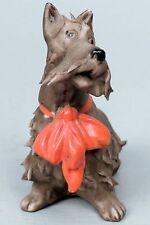 Vintage Scottish Terrier German Bisque Figurine - Scottie Dog Scotty Biskuit PC