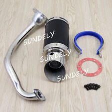 Scooter Short Performance Exhaust System Black For GY6 125cc 150cc Scooter Parts
