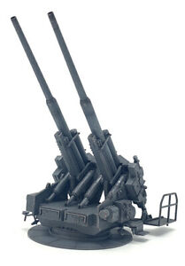 New 1/72 Scale WWII German 128mm Flak 40 Antiaircraft Gun Finished Plastic Model