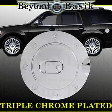 1998-17 LINCOLN NAVIGATOR Triple ABS Chrome Fuel Gas Door Cover Cap Overlay Trim