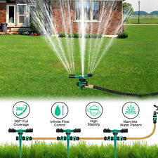 2pcs 3 Arms 360° Auto Rotating Garden Lawn Sprinkler Yard Watering Spray System