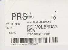 Sammler Used Ticket / Entrada FC Volendam v MVV Maastricht 29-11-2005