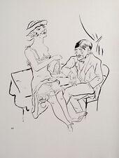 Gorge Grosz Berlin separé Brothel Nightclub Cigarette prostitute Champagne Erotic