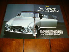 1965 FERRARI 250 EUROPA GT   ***ORIGINAL 1997 ARTICLE***