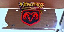 Dodge Ram Tag Rot Schwarz Logo Schild Emblem Edelstahl Vanity Kennzeichen
