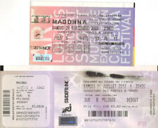 lot 2 tickets billets used places concert MADONNA 2008 2012 PARIS