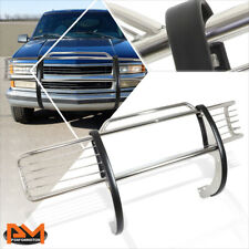 For 88-99 Chevy/GMC C/K GMT400 Front Bumper Brush Grill Guard Protector Chrome