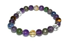 Money Magnet Bracelet Pyrite Citrine Aventurine Jade Lapis Quartz Natural Beads