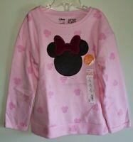 Jumping Beans Disney Girls 5 /6 Long Sleeve MINNIE MOUSE Sweatshirt PINK #21419