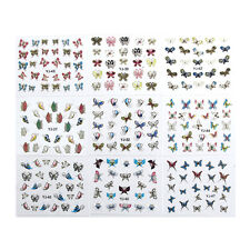 24 Sheets 3D Butterfly Nail Art Transfer Stickers Tips Decal Decoration#V
