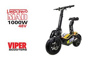 Velocifero Mad 1000W 48V Direct Drive  Electric Scooter, No78, 2021 Model, VS