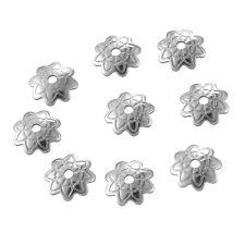 250 Perles Coupelles Calotte Acier inoxydable Création DIY 7x1.5mm