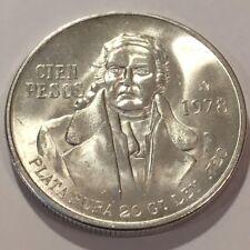1978 MEXICO 100 PESOS  .720 SILVER COIN  BU  #3713