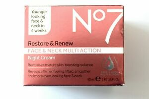 No7 Restore & Renew Face & Neck Multi-Action NIGHT Cream - 50ml
