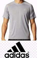 Adidas® Men's Climacore Climalite Althletic Mesh Shoulder TShirt  Grey H14