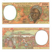 UNC CHAD 2000 Central African Francs (2000) P-603P