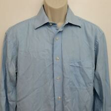 Tommy Bahama Mens Dress Shirt 16 34/35 Blue Stripe Button Down 100% Cotton