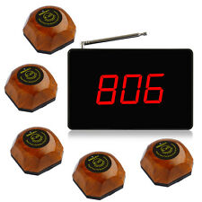 Singcall Wireless Paging System for Coffee shop Restaurant 1 Display 5 Bells
