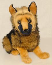 "Hansa - Brown & Black - GERMAN SHEPARD - Soft Puppy Plush 14"" x 16"" COLLECTIBLE!"