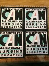 THE CENTER FOR CAN ALLIED HEALTH NURSING EDUCATION EMBROIDERED PATCHES