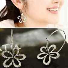 Lovely Cherry Blossoms Ear Stud Cute Sterling Silver Flower Dangle Earrings