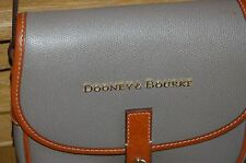 DOONEY BOURKE MESSENGER CROSSBODY TAUPE LEATHER CLAREMONT FIELD SADDLE BAG $198