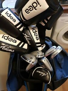 Adams Idea Full Setup Irons,Hybrids,Woods Putter Cart Bag 12 Clubs Seniors