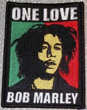 """BOB MARLEY One Love 2 1/4"""" Wide Embroidered Patch"""