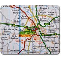 Rectangle Mouse Mat  - Bury St Edmunds England Travel UK GB Map  #44491