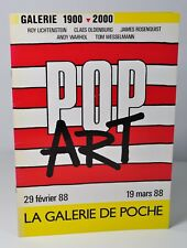 POP ART -  Galerie 1900 - 2000 - La Galerie de poche, catalogue d'exposition.