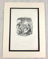 1885 Antico Stampa George Cruikshank Illustrazione Un Deluso Uomo Vittoriano