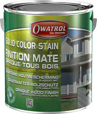 Solid Color Stain deckweiss 1l Holz Farbe Holzfarbe Anstrich schutz Owatrol
