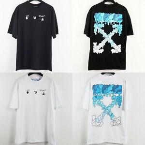 Off- white OW C/O Virgil Abloh Casual Cotton Short Sleeve Arrow Print T-shirt